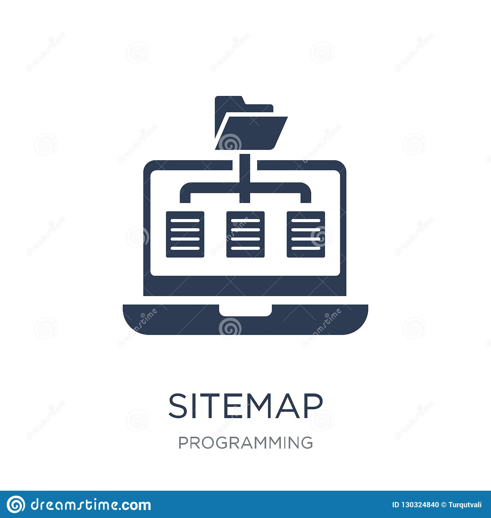 Sitemap icon. Trendy flat vector Sitemap icon on white background from Programming collection