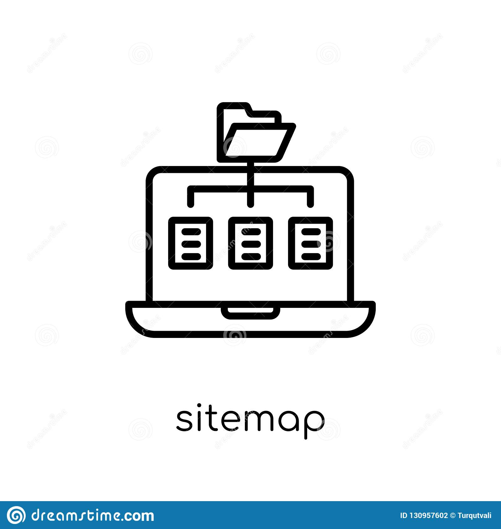 Sitemap icon. Trendy modern flat linear vector Sitemap icon on w
