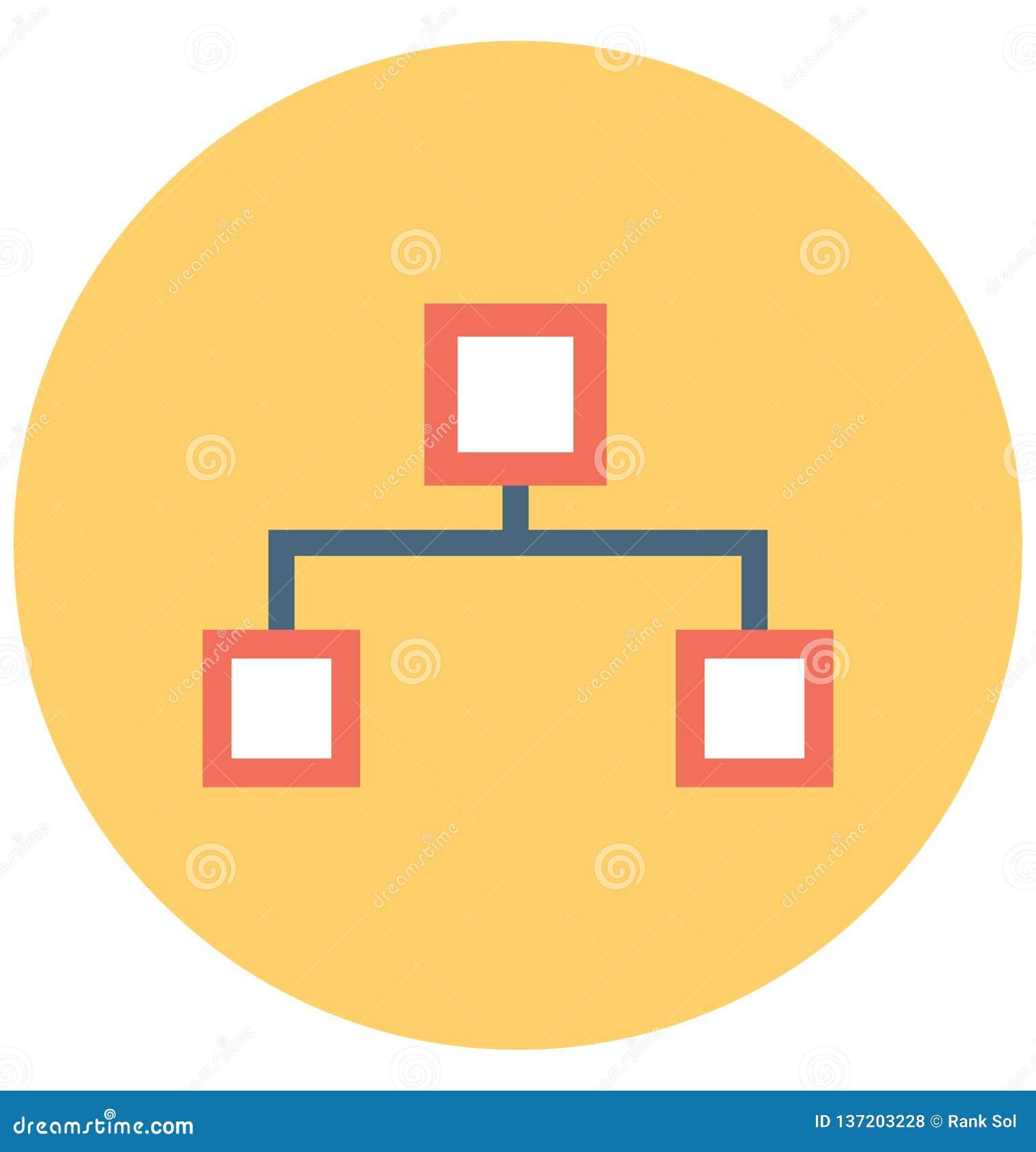 Sitemap isolerade vektorsymbolen som kan lätt ändras eller redigera