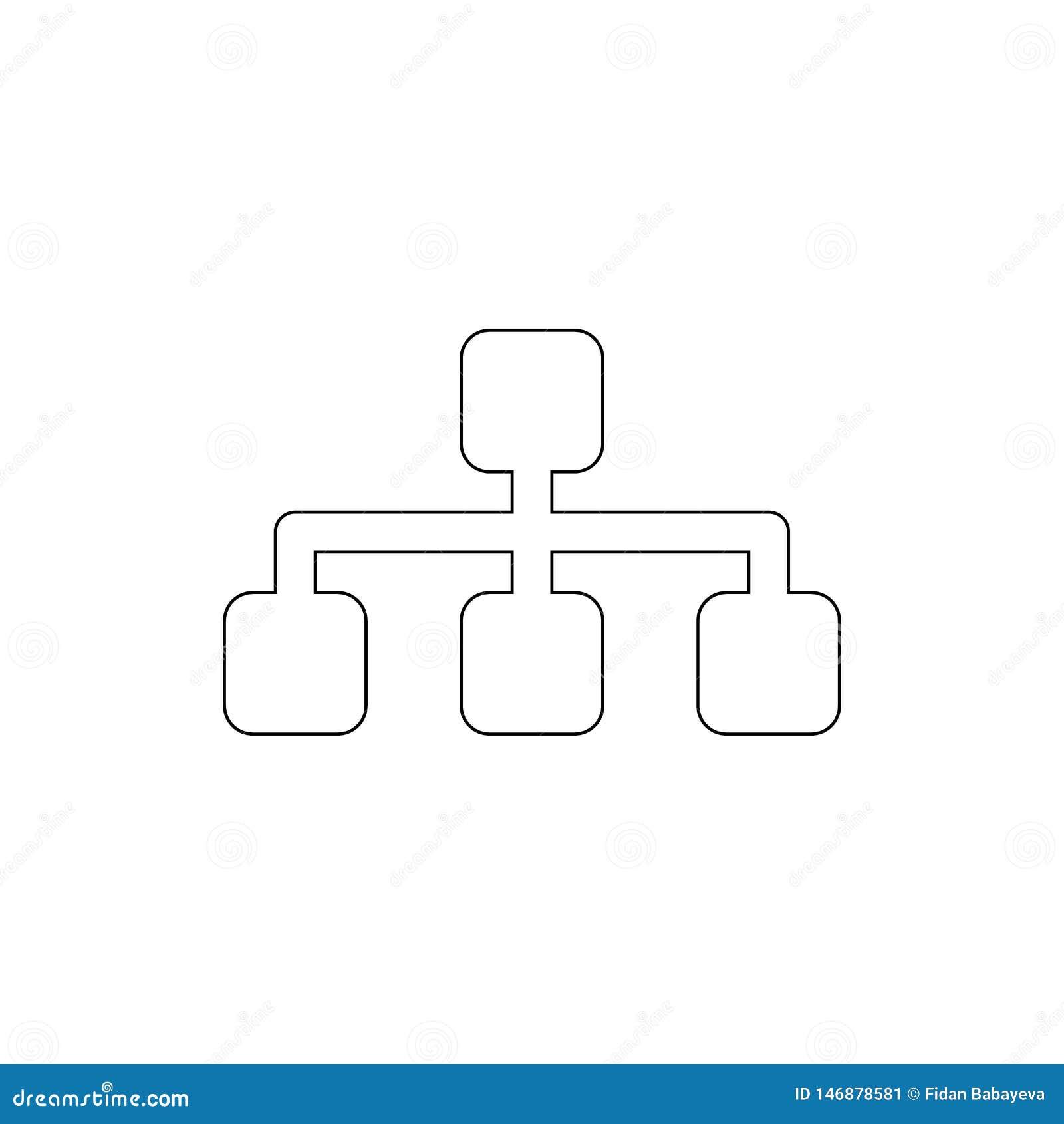 Sitemap konturu ikona Znaki i symbole mog? u?ywa? dla sieci, logo, mobilny app, UI, UX