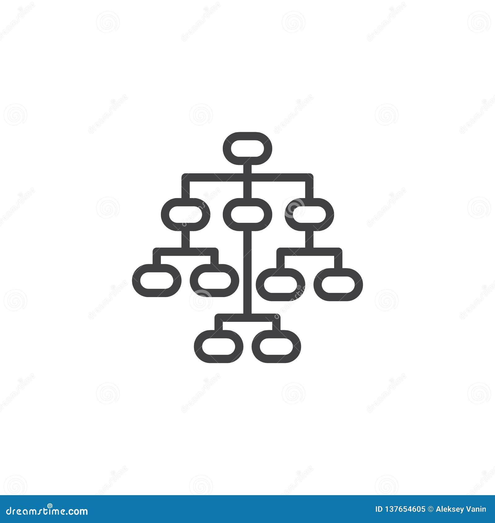 Sitemap-Linie Ikone