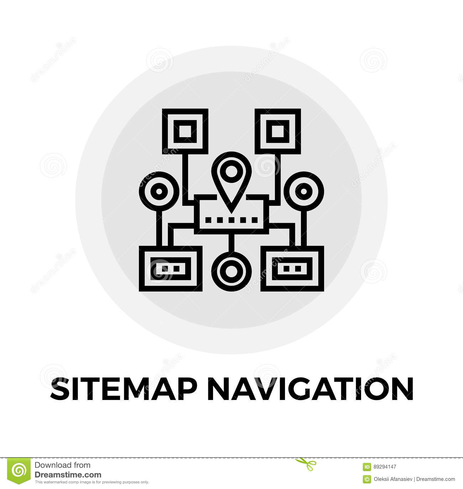 Sitemap Navigation Line Icon