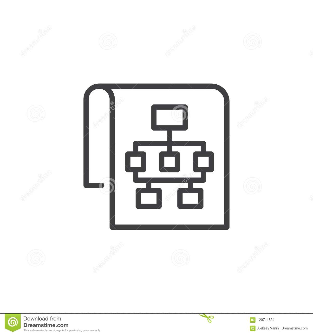 Sitemap outline icon