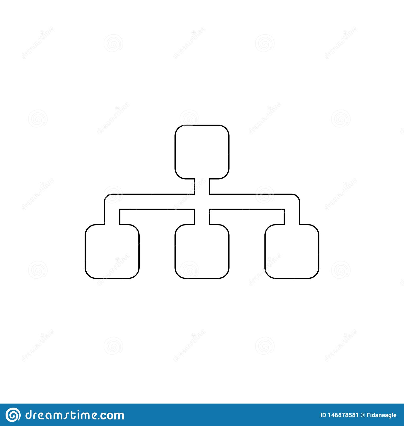 Sitemap outline icon. Signs and symbols can be used for web, logo, mobile app, UI, UX