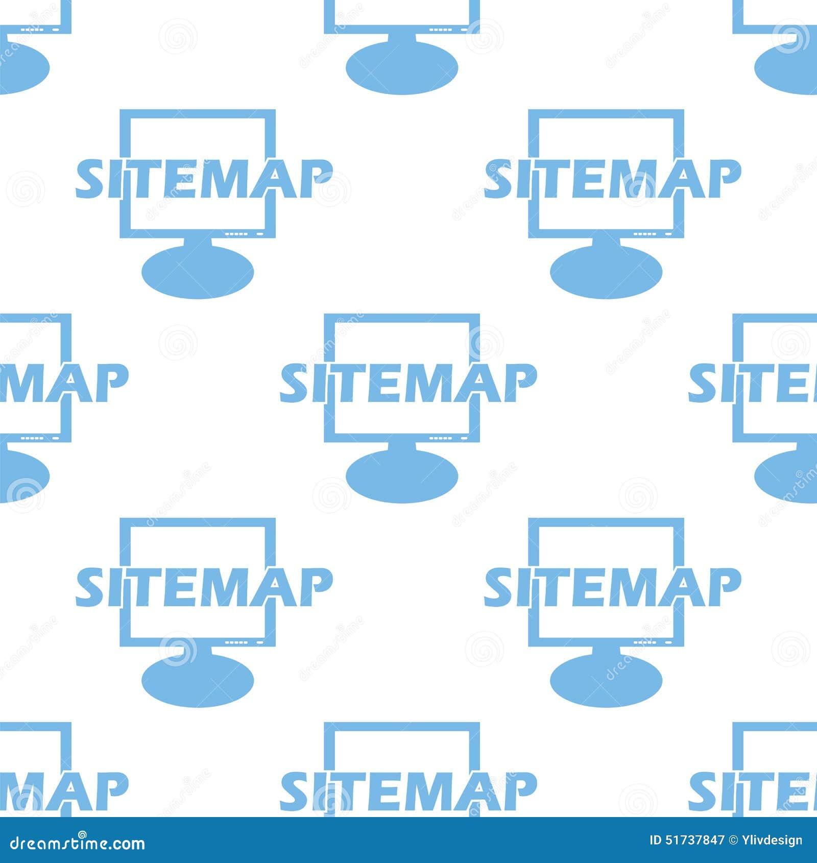 Sitemap seamless pattern