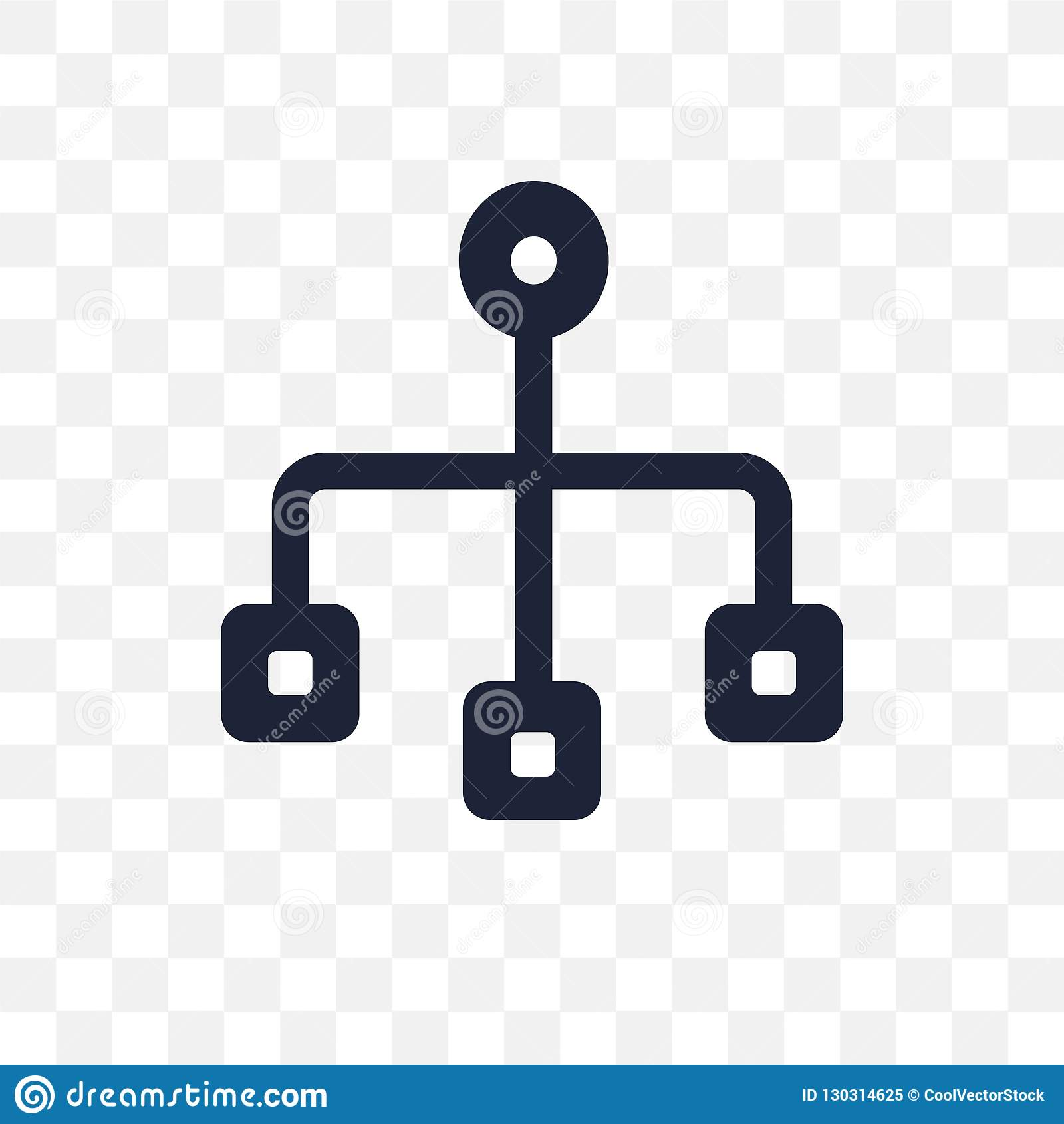 Sitemap transparant pictogram Het ontwerp van het Sitemapsymbool van SEO verzamelt
