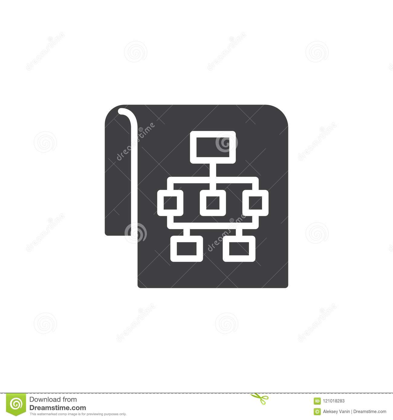 Sitemap vector icon