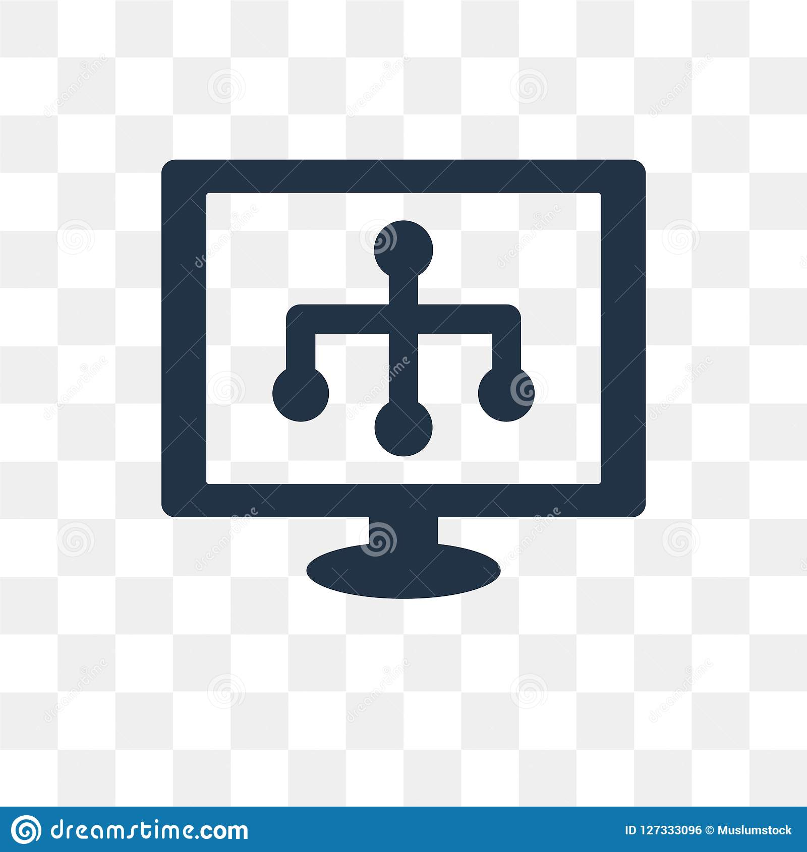 Sitemap vector icon isolated on transparent background, Sitemap