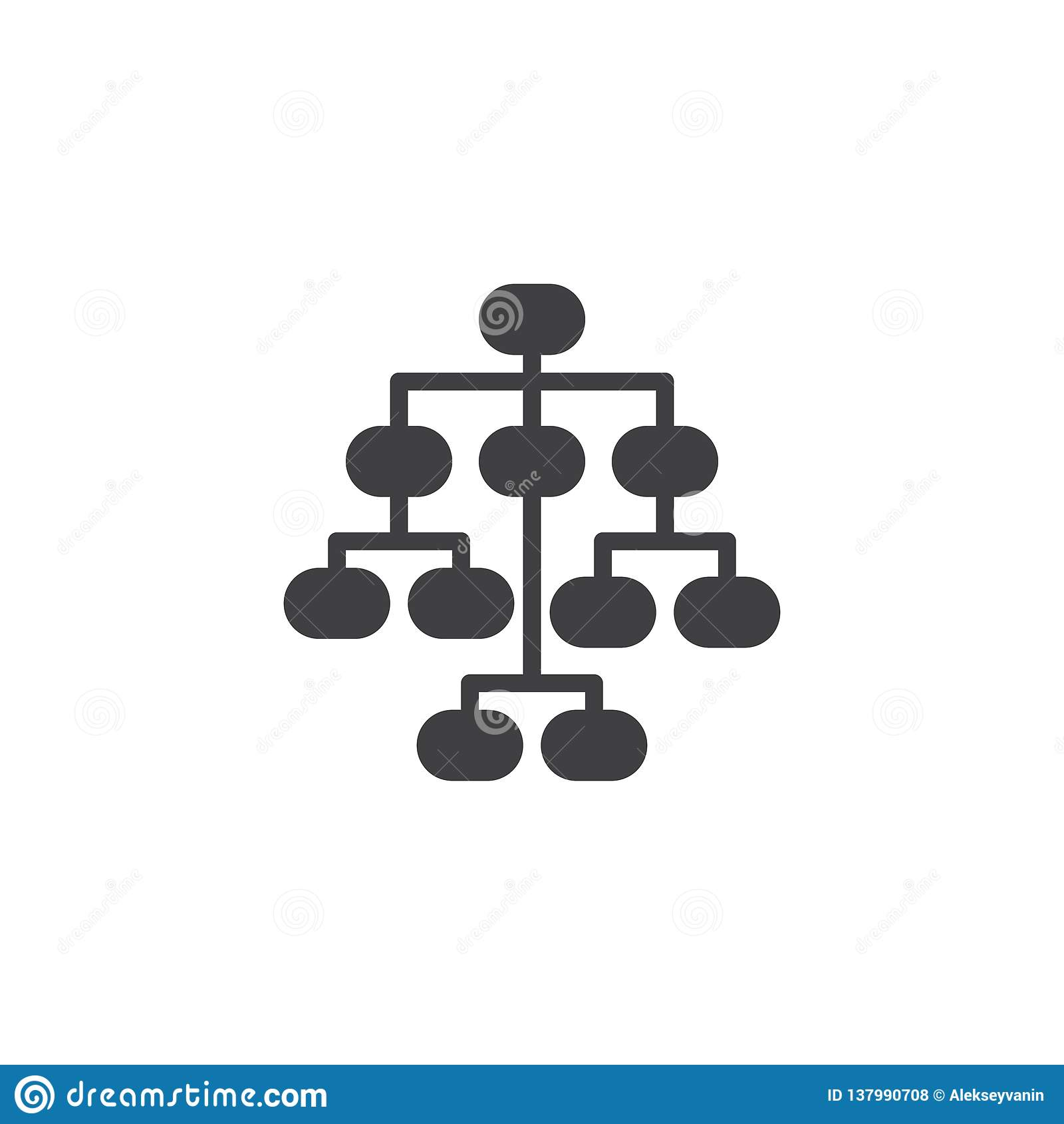 Sitemap vektorsymbol