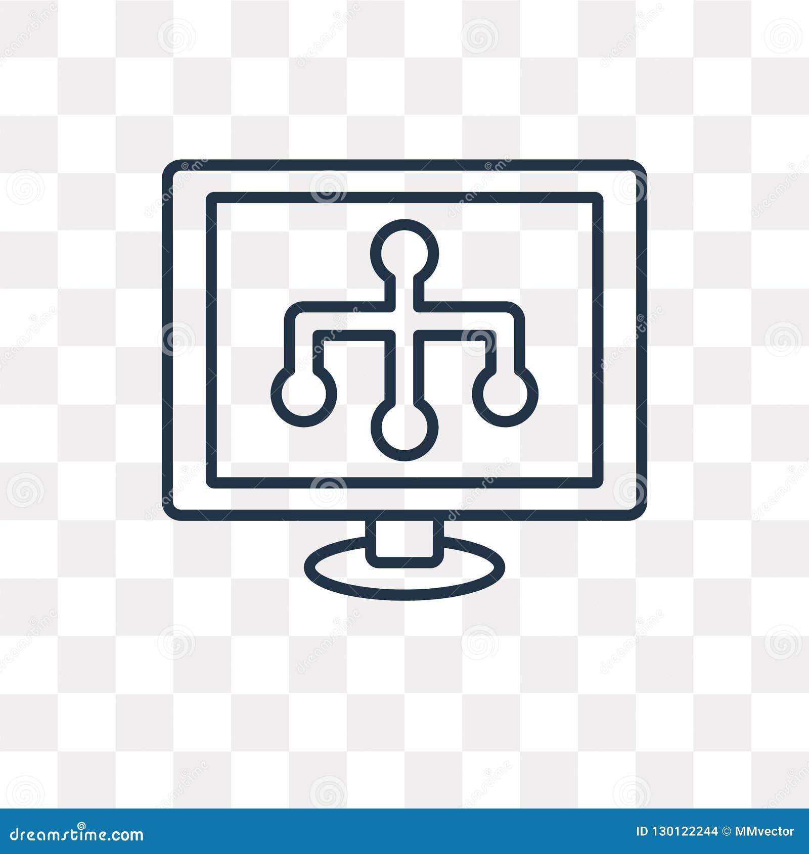 Sitemap wektorowa ikona odizolowywająca na przejrzystym tle, liniowy S