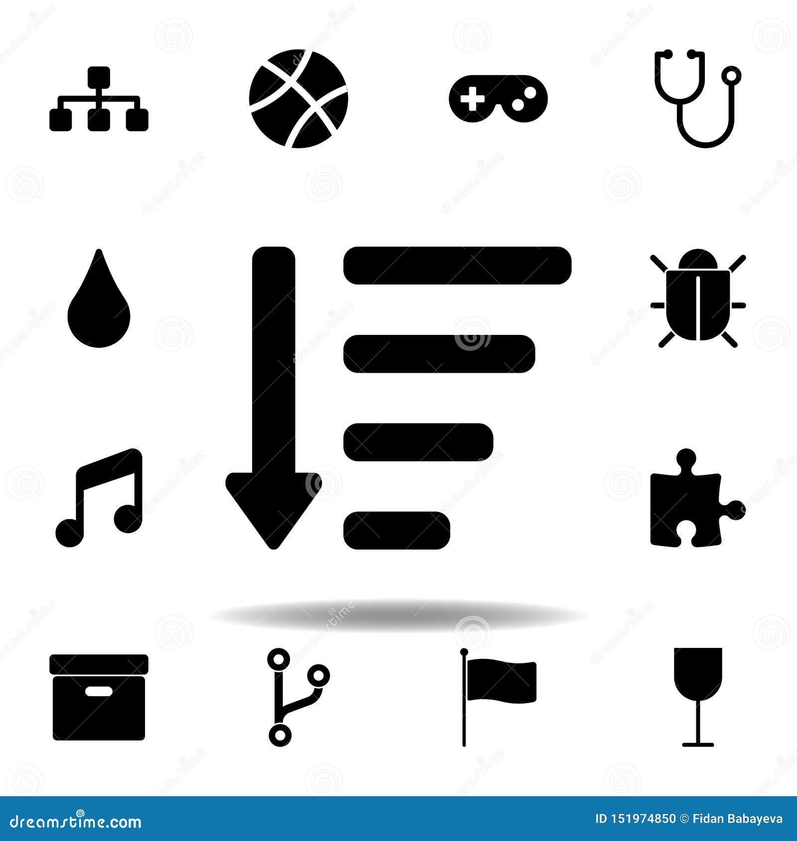 Sitemappictogram De tekens en de symbolen kunnen voor Web, embleem, mobiele toepassing, UI, UX worden gebruikt