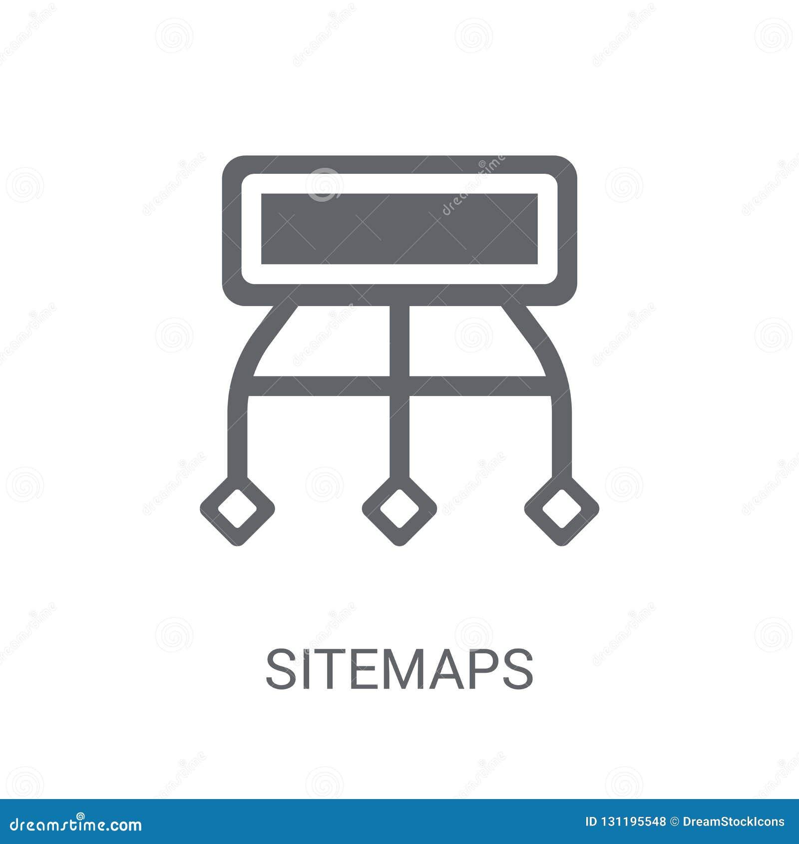Sitemaps icon. Trendy Sitemaps logo concept on white background