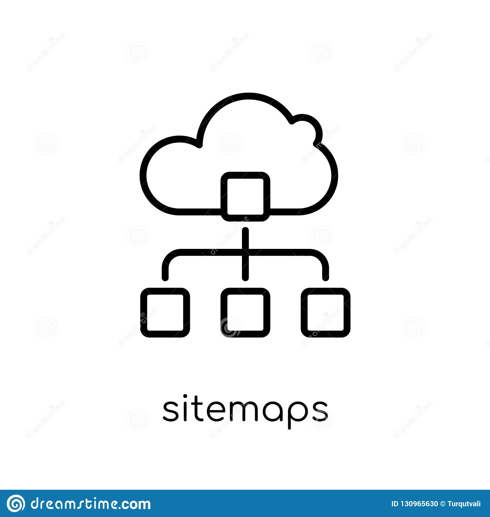 Sitemaps icon. Trendy modern flat linear vector Sitemaps icon on