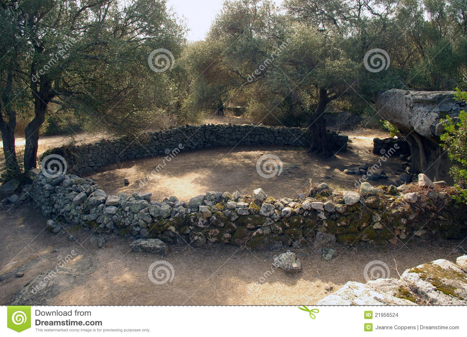 Sitio arqueológico en Cerdeña.