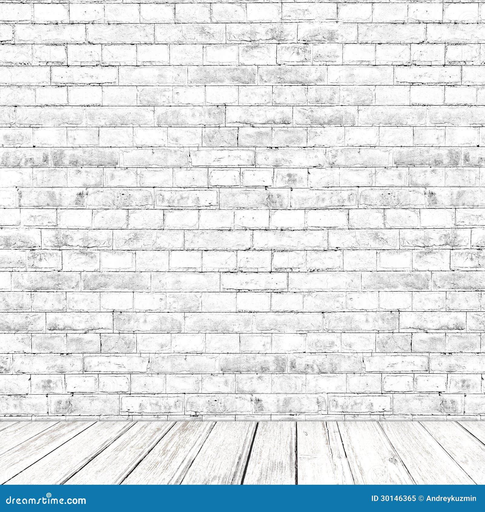 Sitio blanco de la pared de ladrillo con el fondo de - Pared ladrillo blanco ...