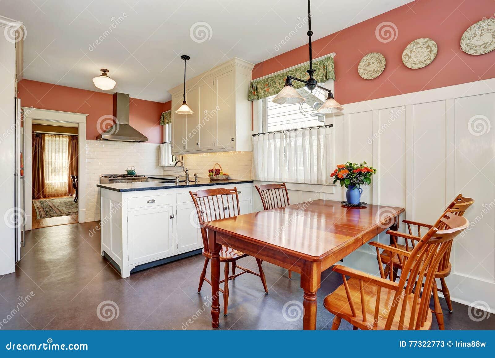 Sitio cl sico de la cocina con los gabinetes la encimera - La cocina del 9 ...