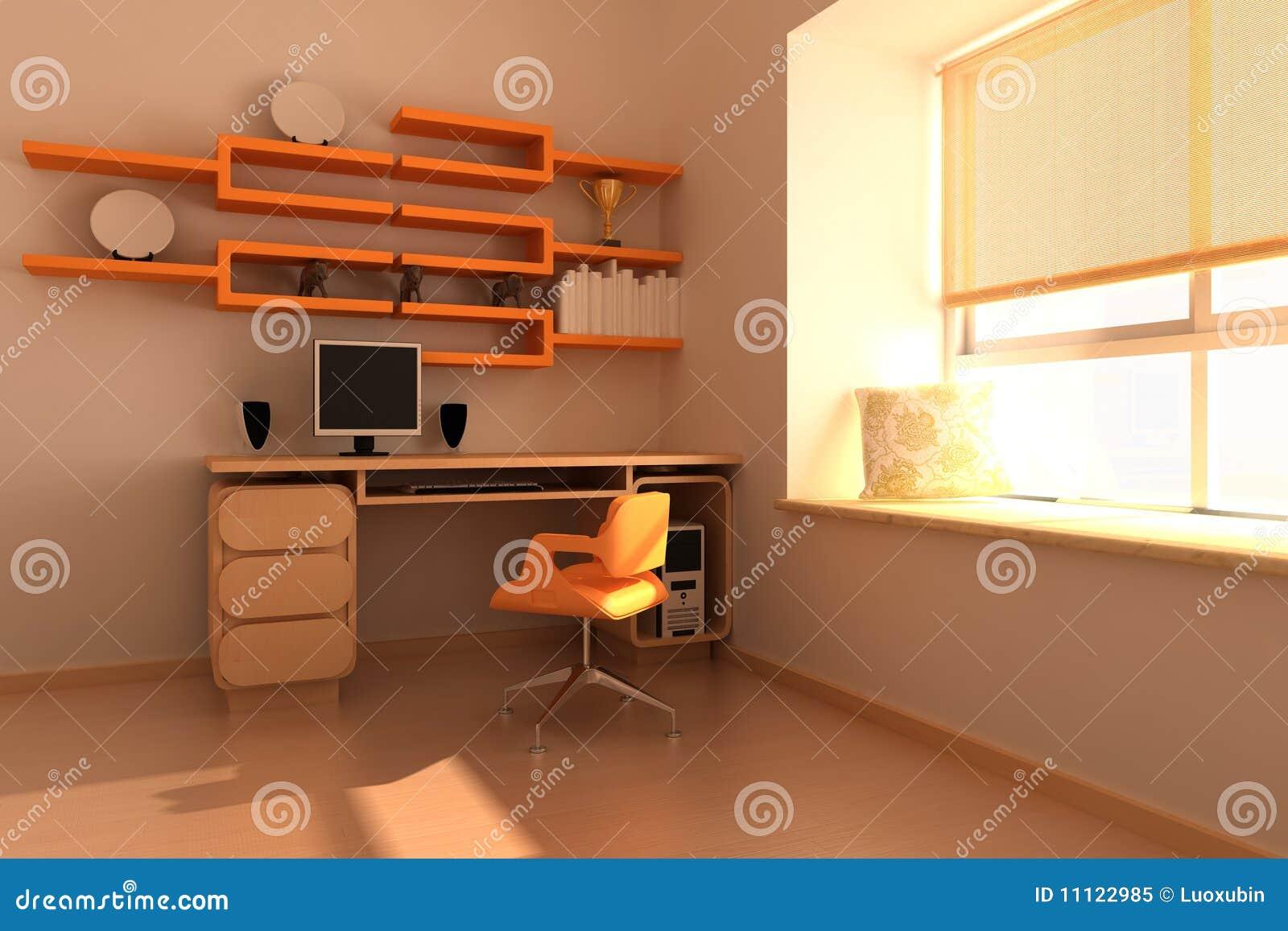 Sitio de estudio moderno stock de ilustraci n ilustraci n for Cuarto de estudio para adultos