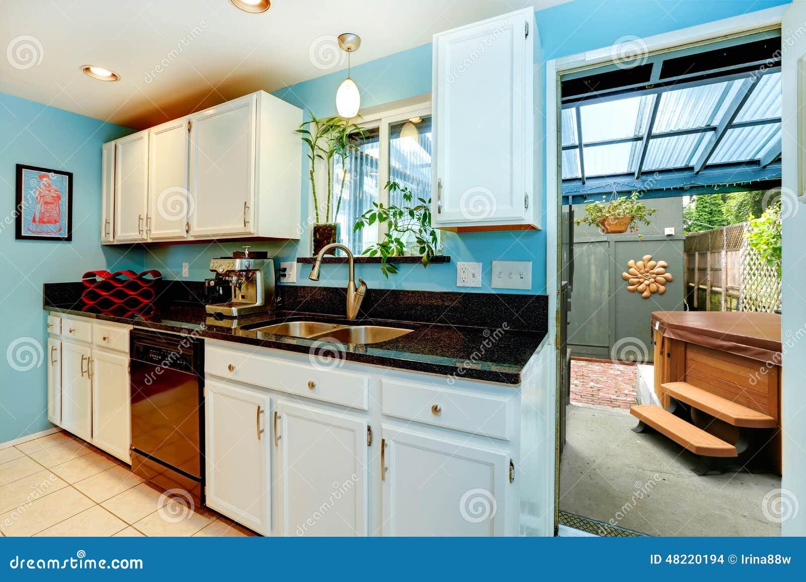 Sitio de la cocina con la salida al patio trasero con el for Cocinas con salida al patio