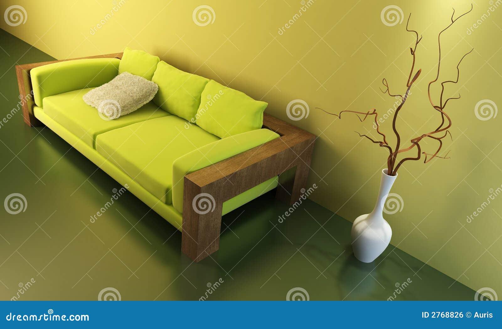 Sitio del salón con el sofá