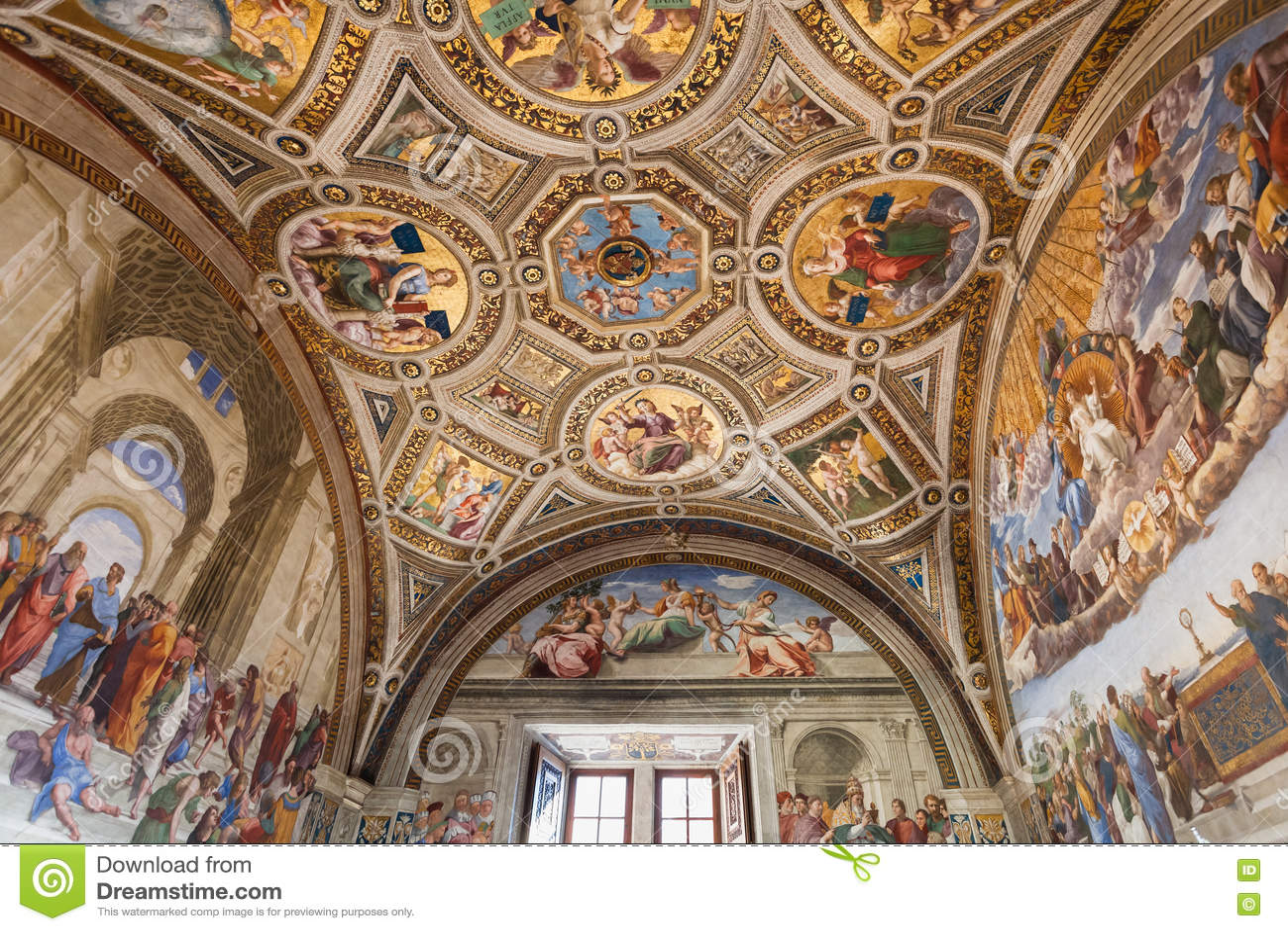 Sitio Del Techo Del Signatura En Museos Del Vaticano Foto Editorial Imagen De Signatura Vaticano 82322616