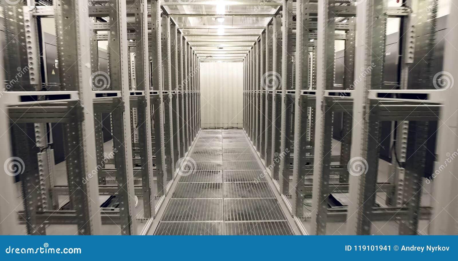 Sitio para los servidores en el centro de datos Tecnologías modernas