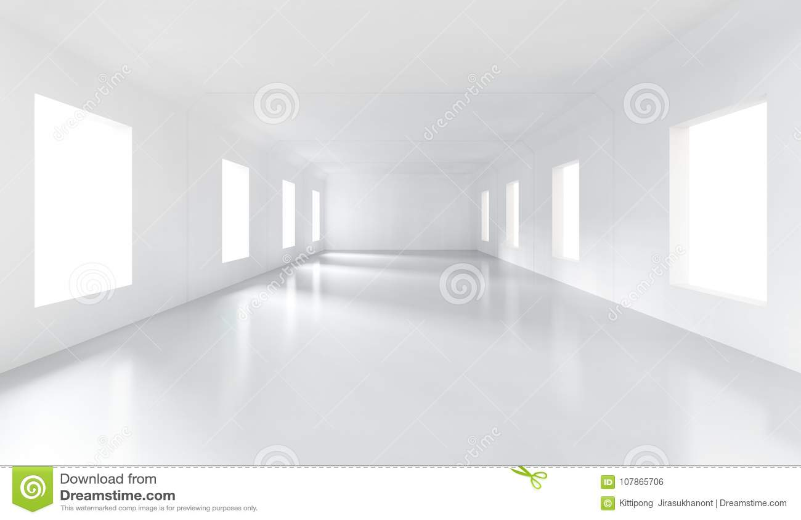 Sitio vacío blanco