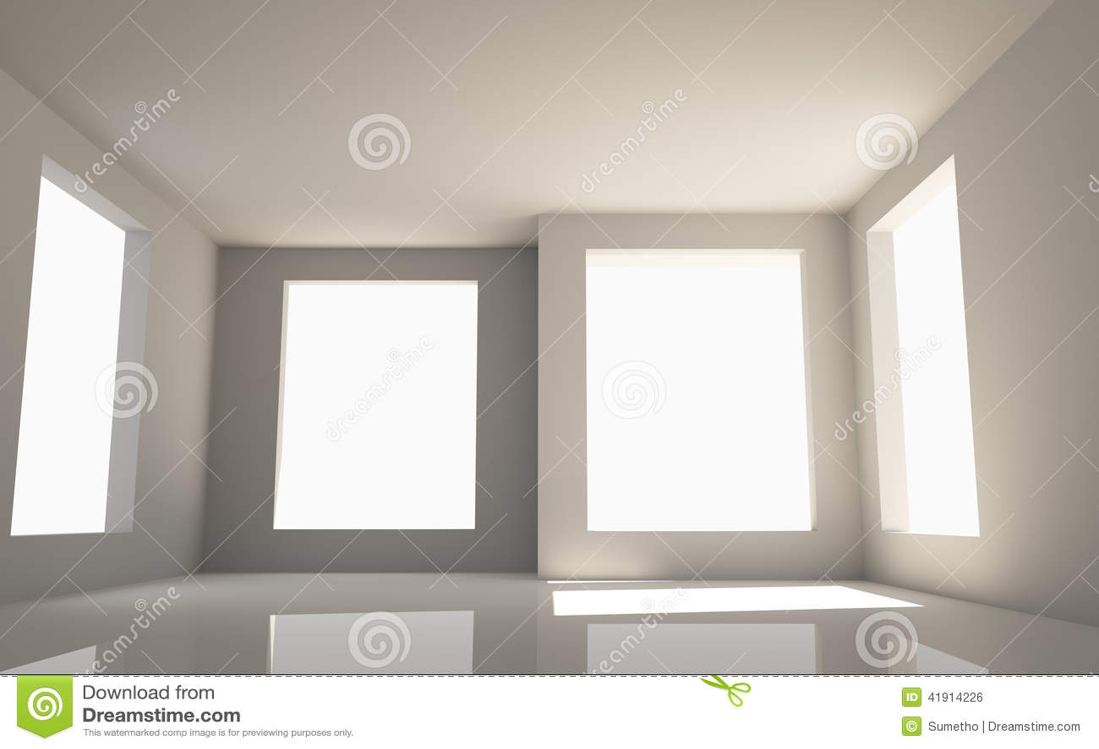 Sitio vacío con cuatro ventanas