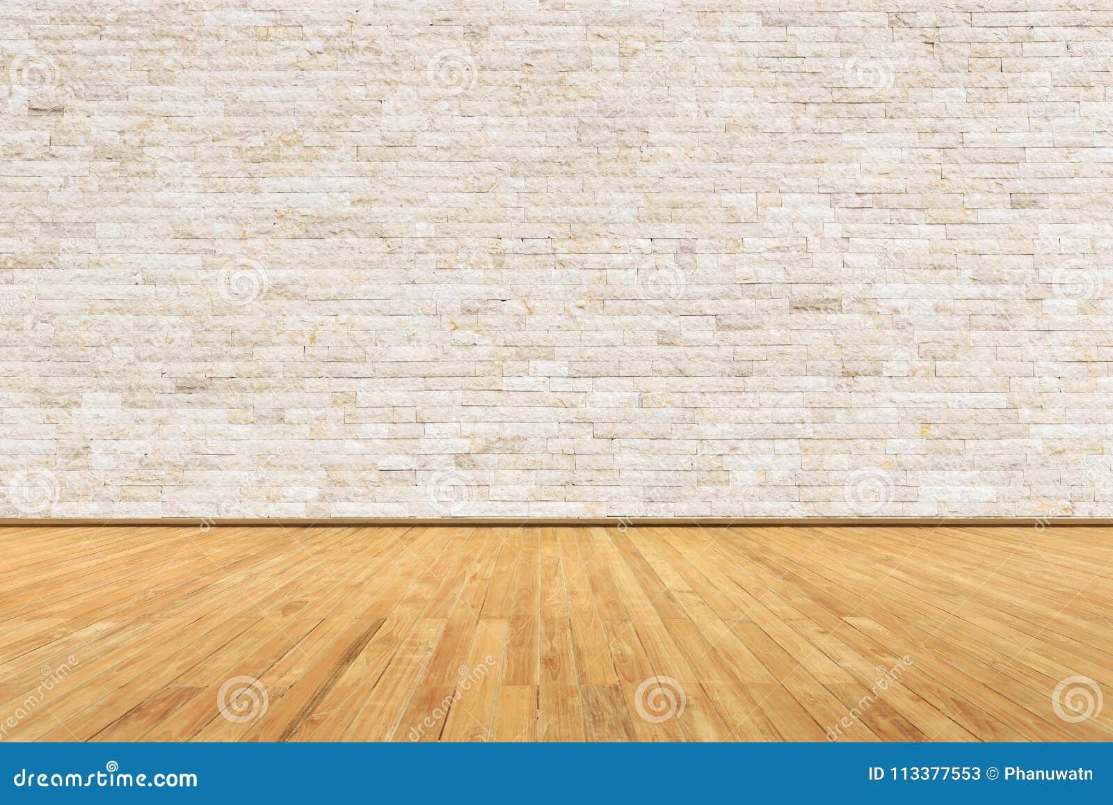 Sitio vacío con la pared y el piso de madera