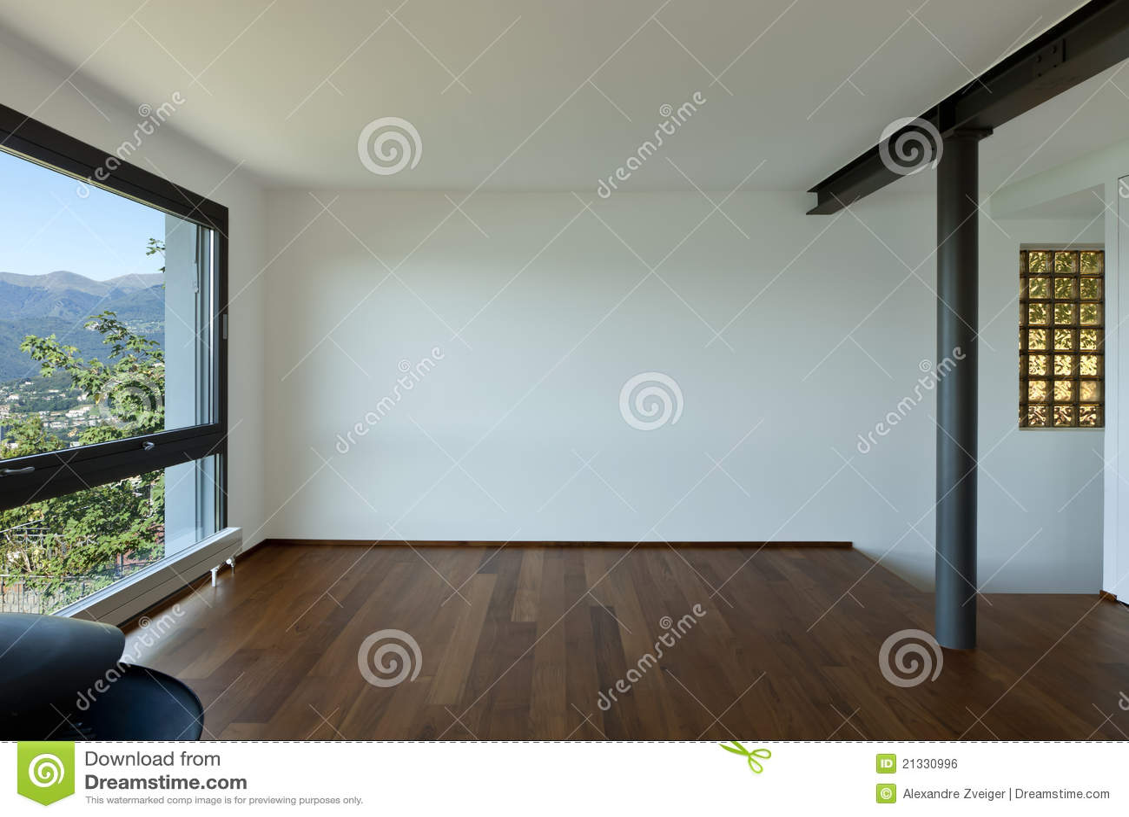 Sitio vacío con la ventana