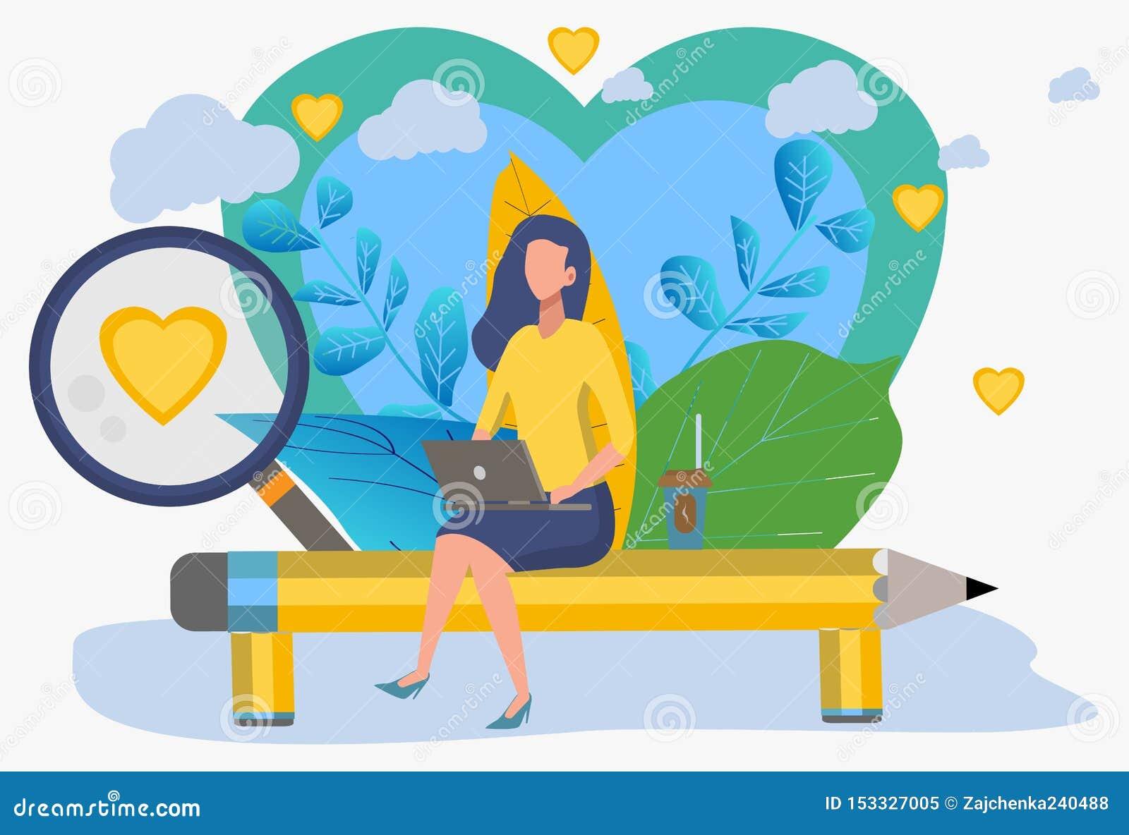 Sitio web de la reuni?n Búsqueda para un par La muchacha está buscando a un individuo Comunicación a través de las redes sociales