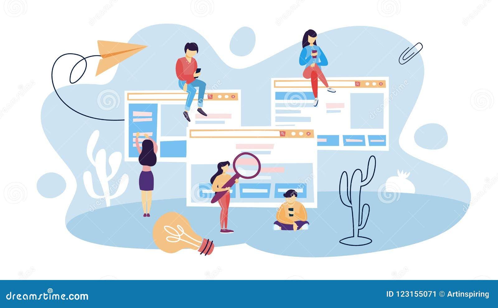 Sitios web del uso de la gente