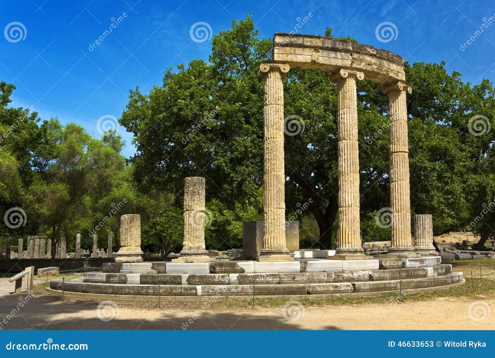 Sito archeologico di olimpia immagine stock immagine for Immagini sito