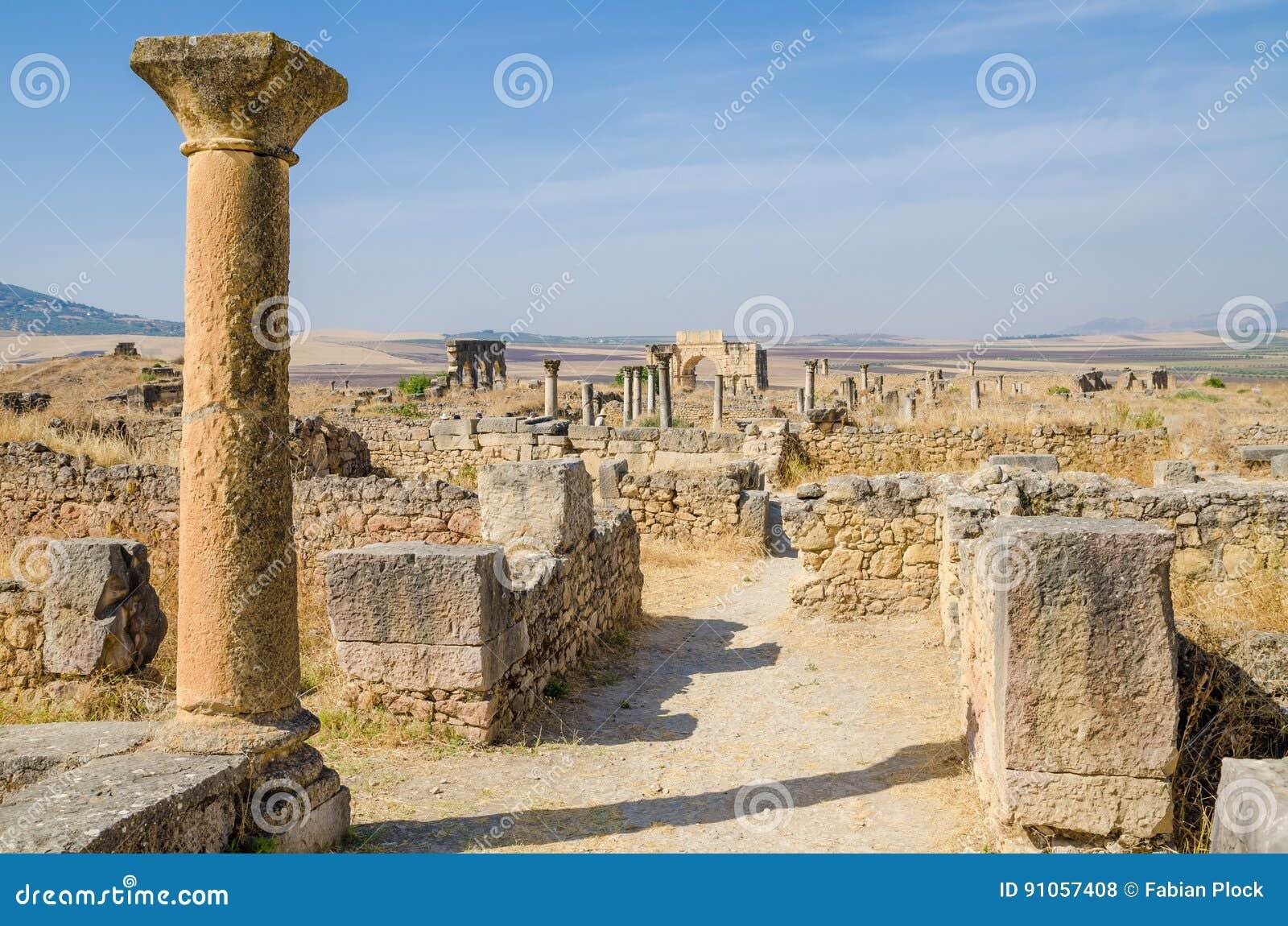 sito storico antico delle rovine romane di volubilis ForSito Storico