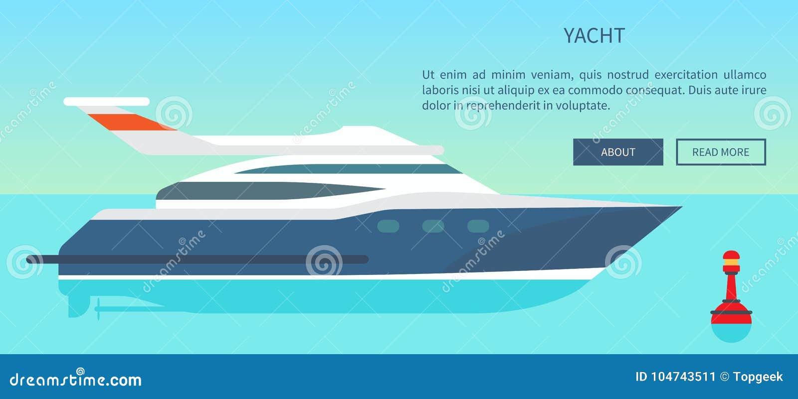 Sito Web ad alta velocità moderno dell yacht con informazioni