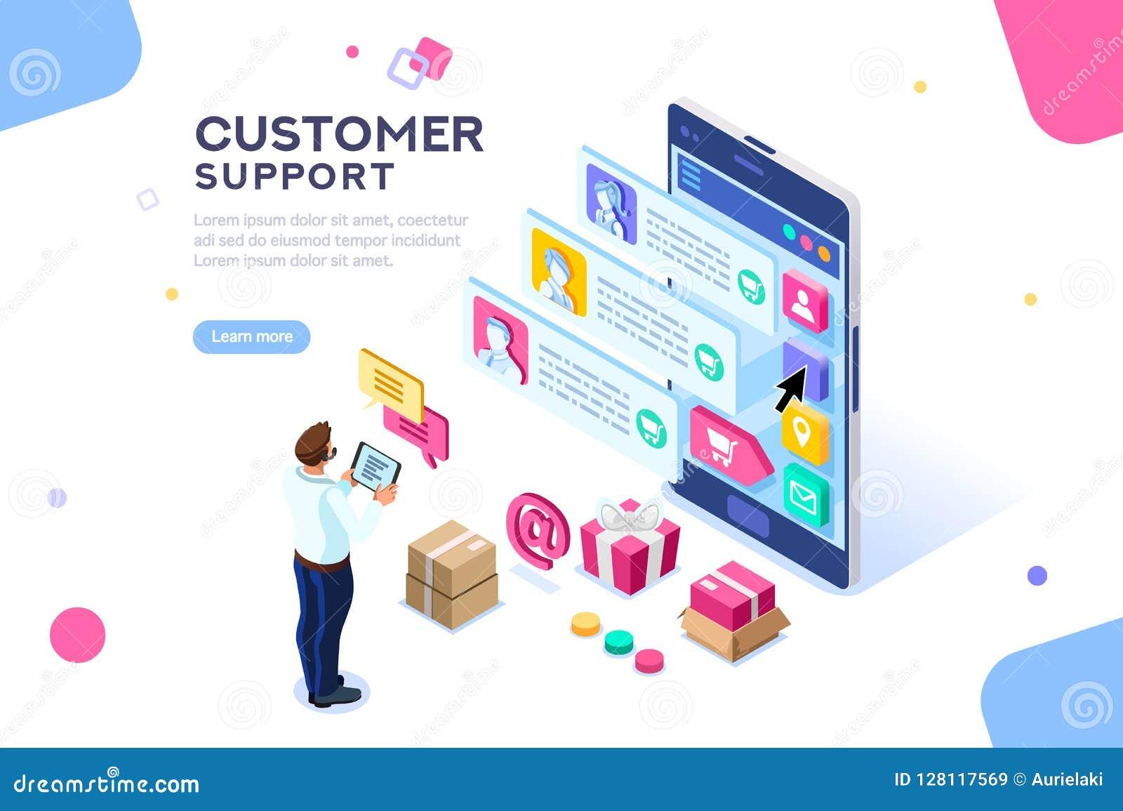 Sito Web editabile del modello del servizio clienti commerciale