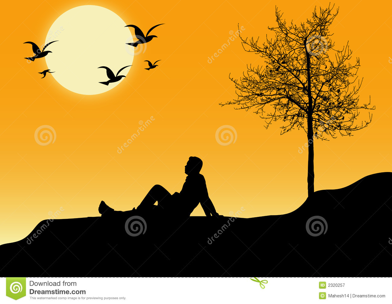 Sitting Alone Royalty Free Stock Photography Image 2320257