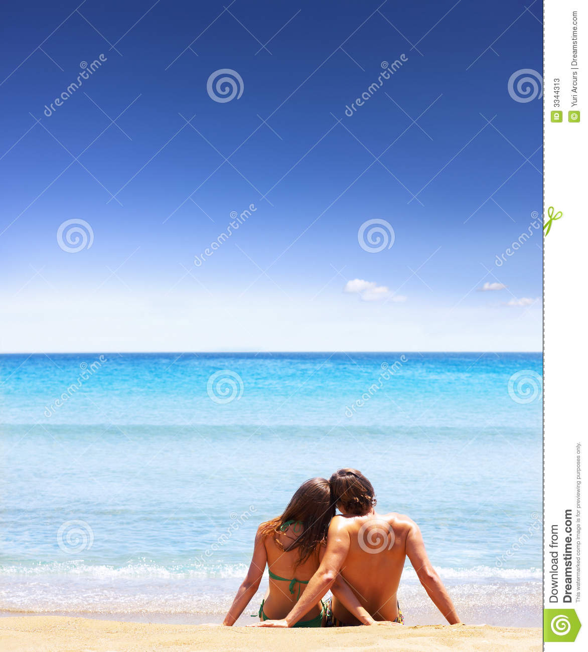 Couple At The Beach Stock Image Image Of Caucasian: Sitting On The Beach Stock Image. Image Of Couple