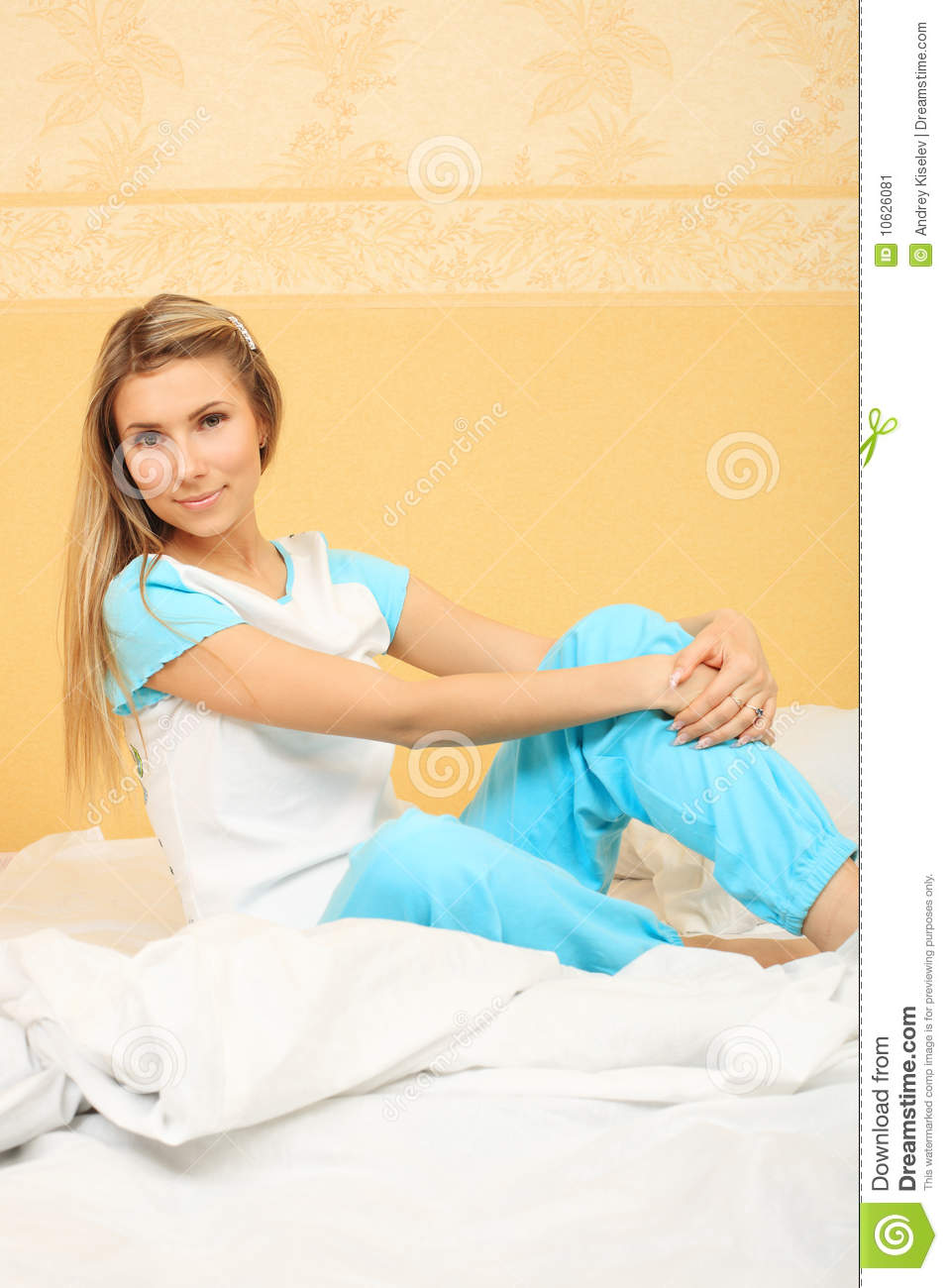 Sitting on a bed