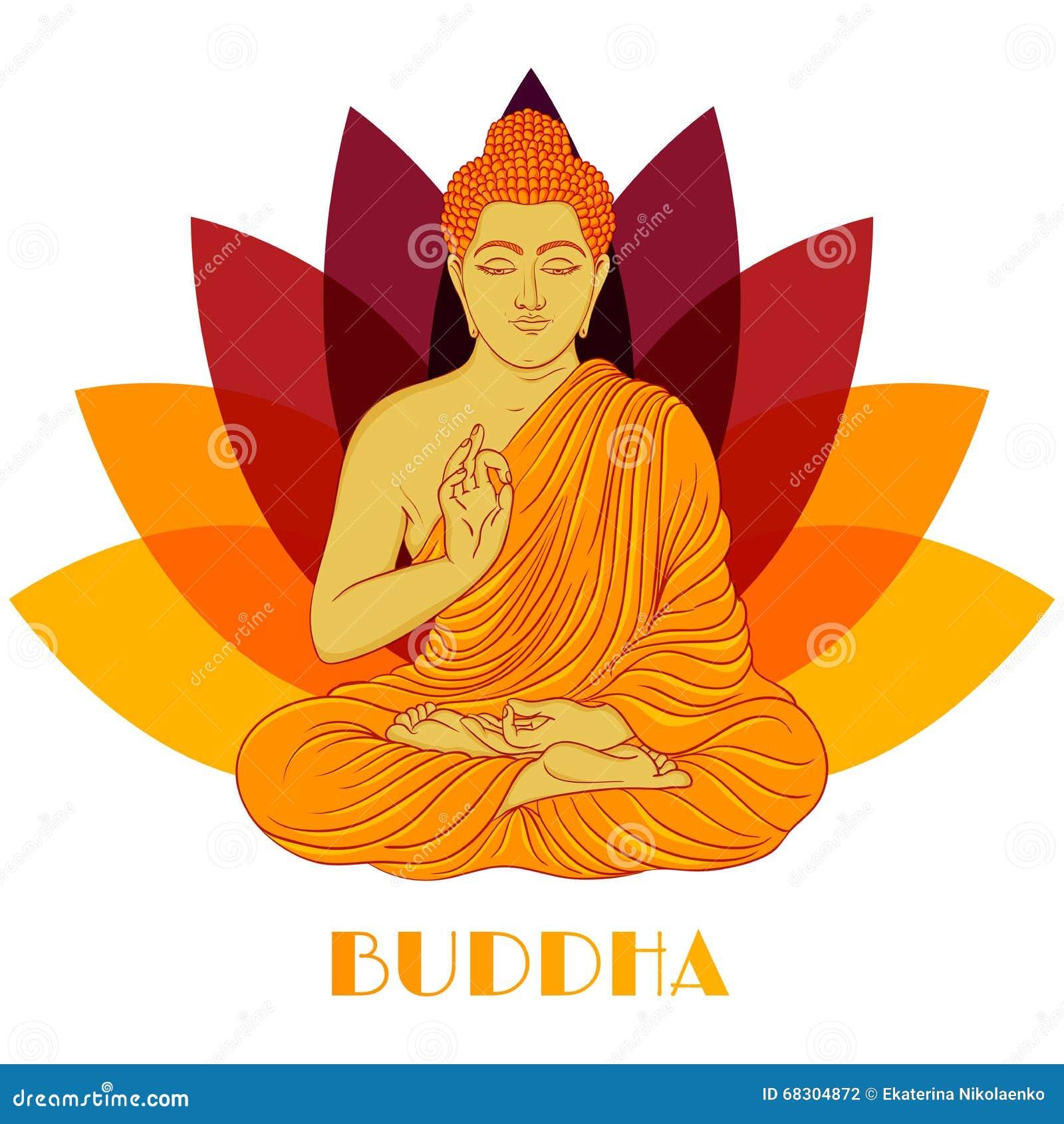 Lotus flower and buddha stock image image of reflected 28197281 sitting buddha over lotus flower background hand drawn vector vector illustration mightylinksfo