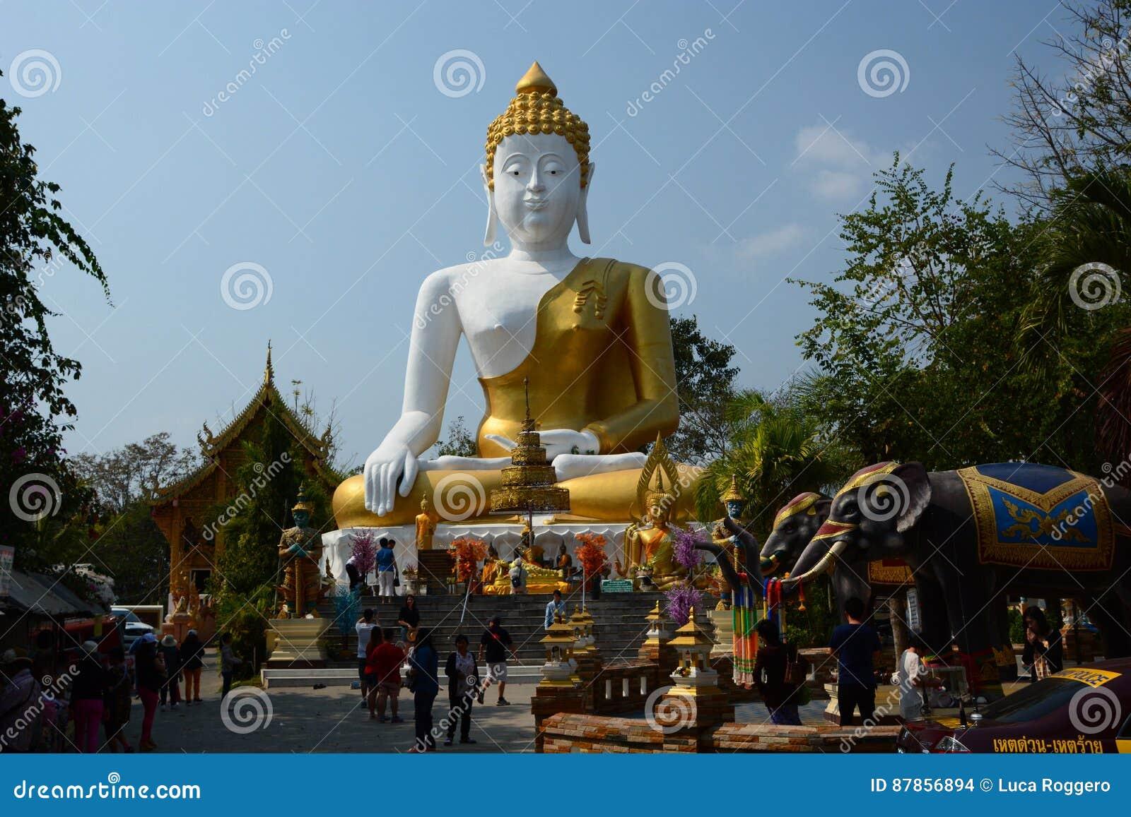 Marble Temple Home Decoration Sitting Buddha Statue Wat Phra That Doi Kham Temple