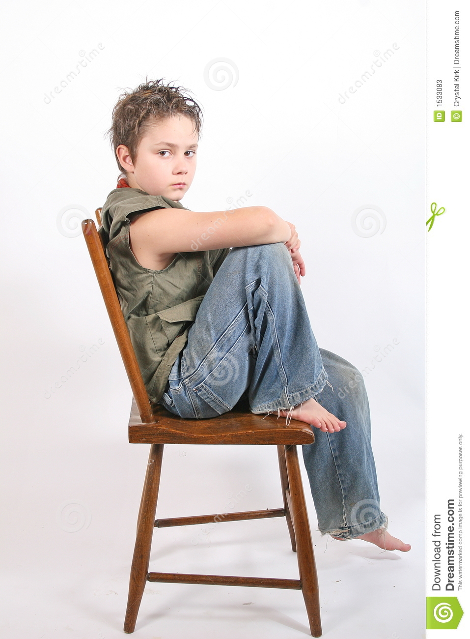 Sitting On Chair Stock Photos - Image: 1533083