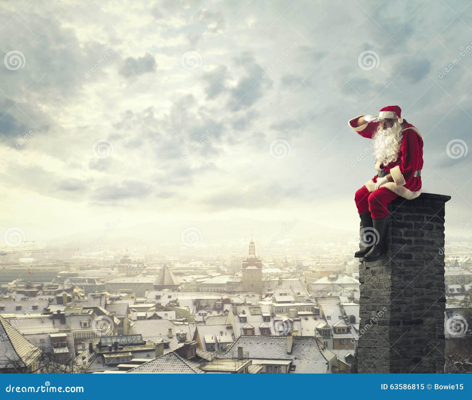 Sitting On The Chimney Stock Image Image Of House