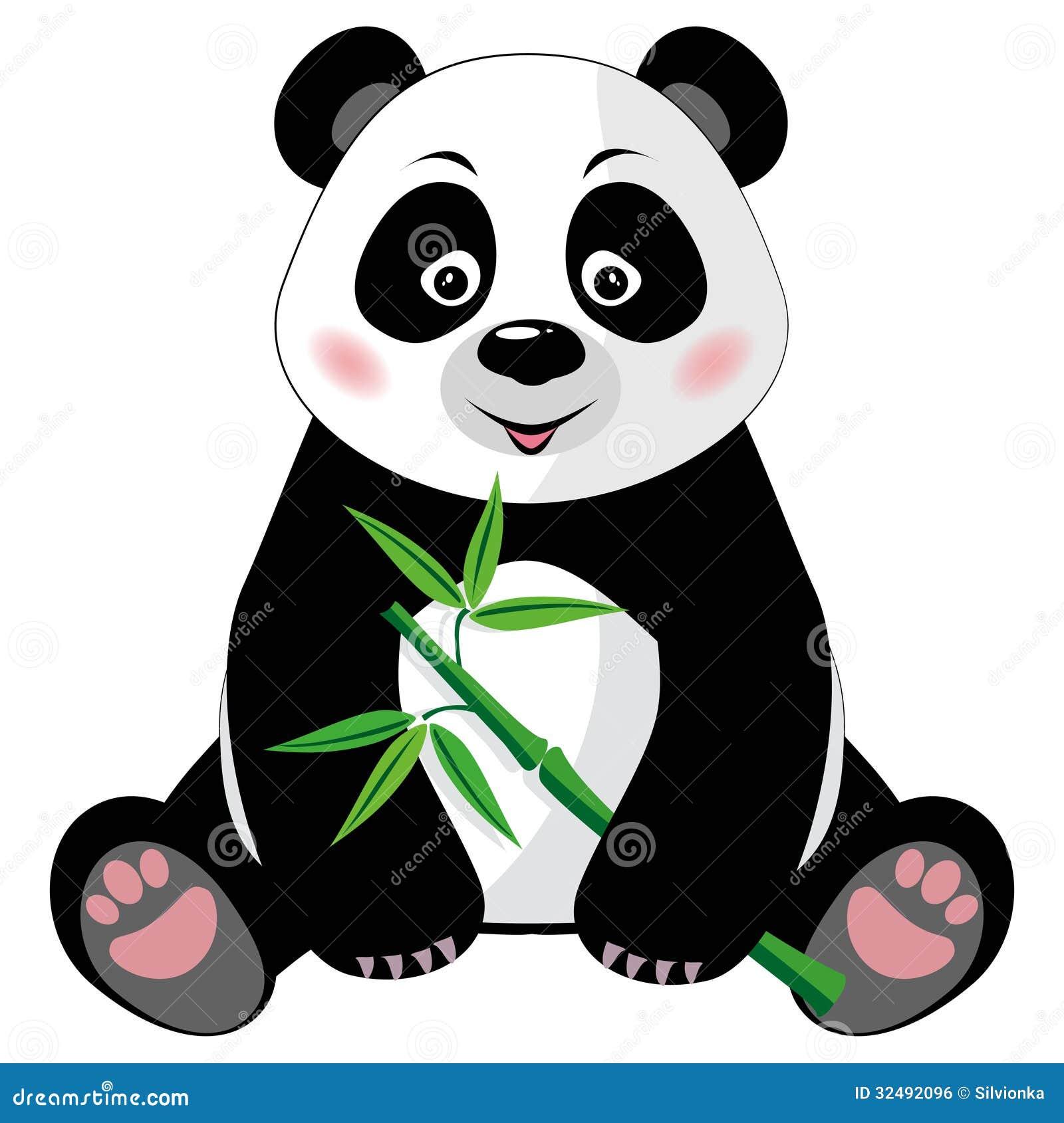 Sitting Cute Panda Wit...