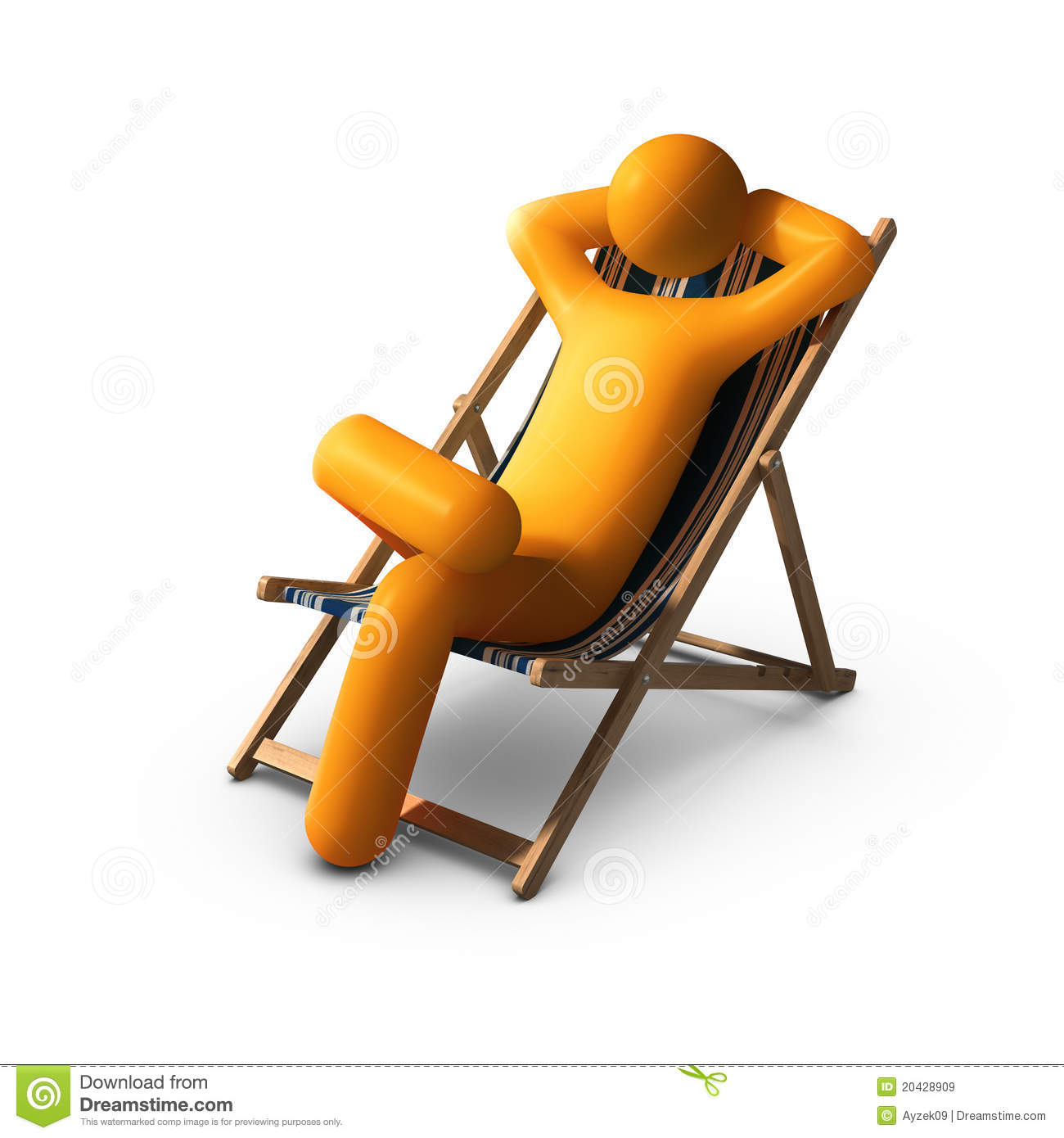 Sitting On Deck Chairs Enjoying Vacation Royalty Free Stock Images - Image: 20428909
