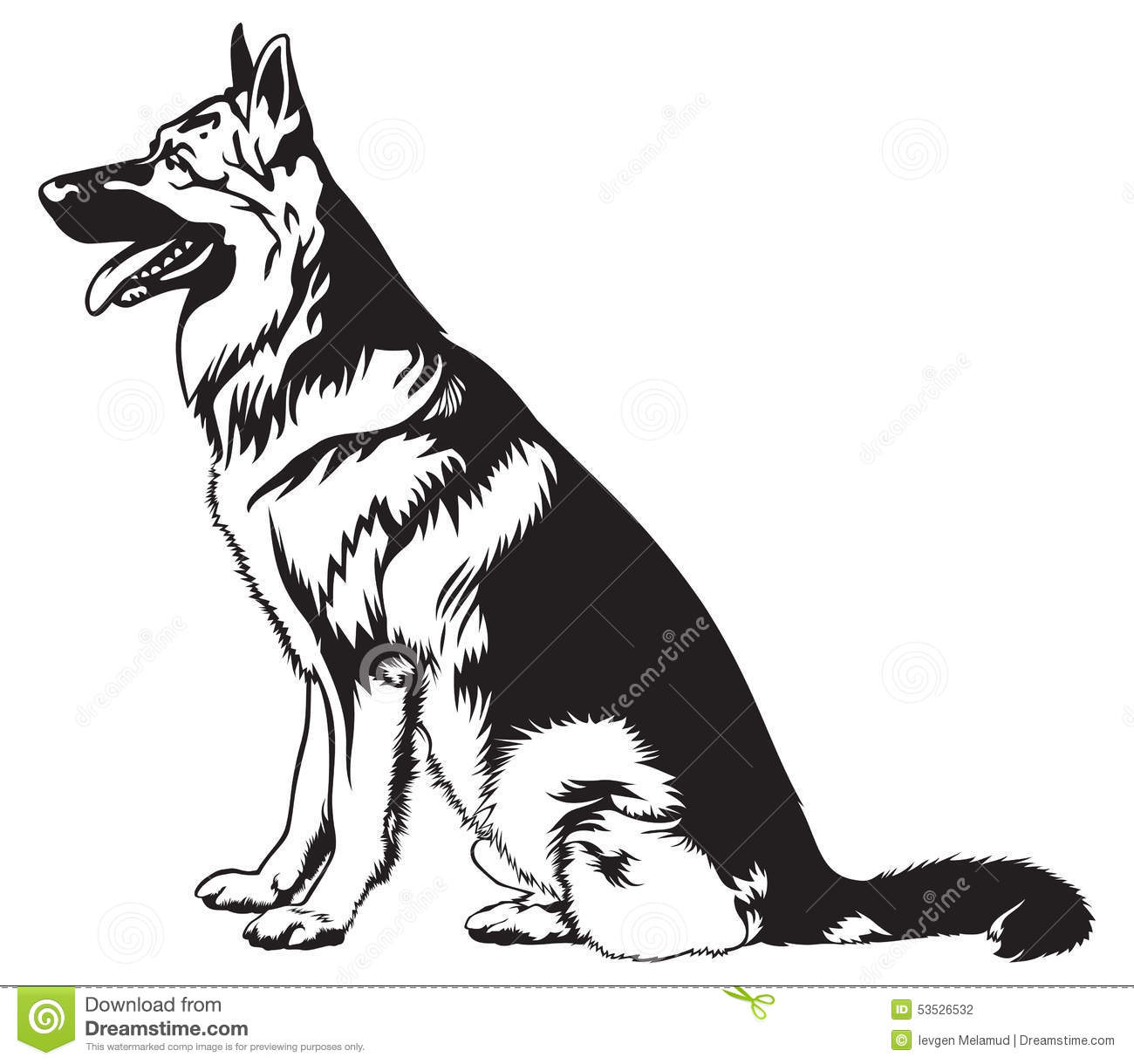 2020 Other | Images: Sitting German Shepherd Clipart