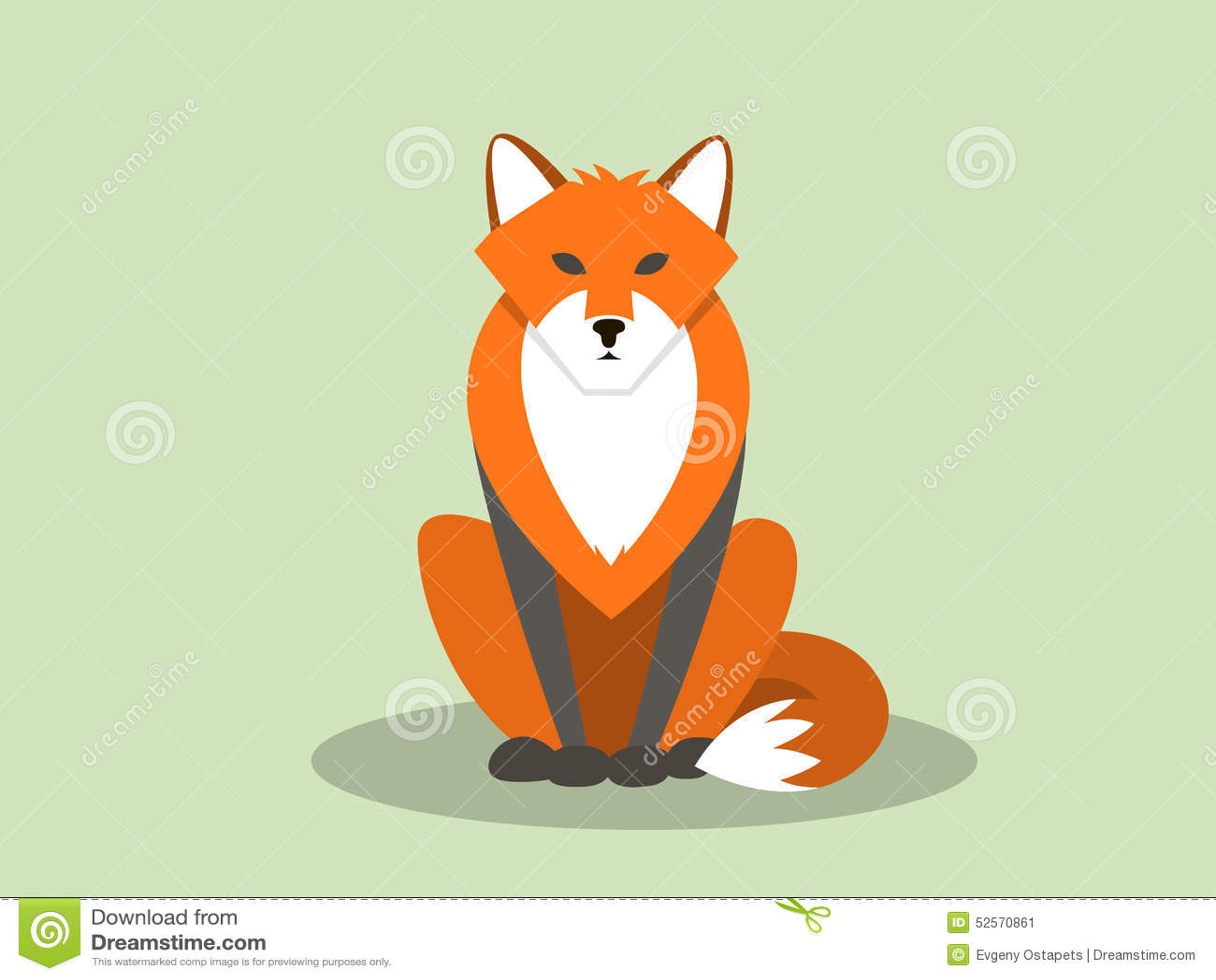 Sitting fox illustration - photo#14