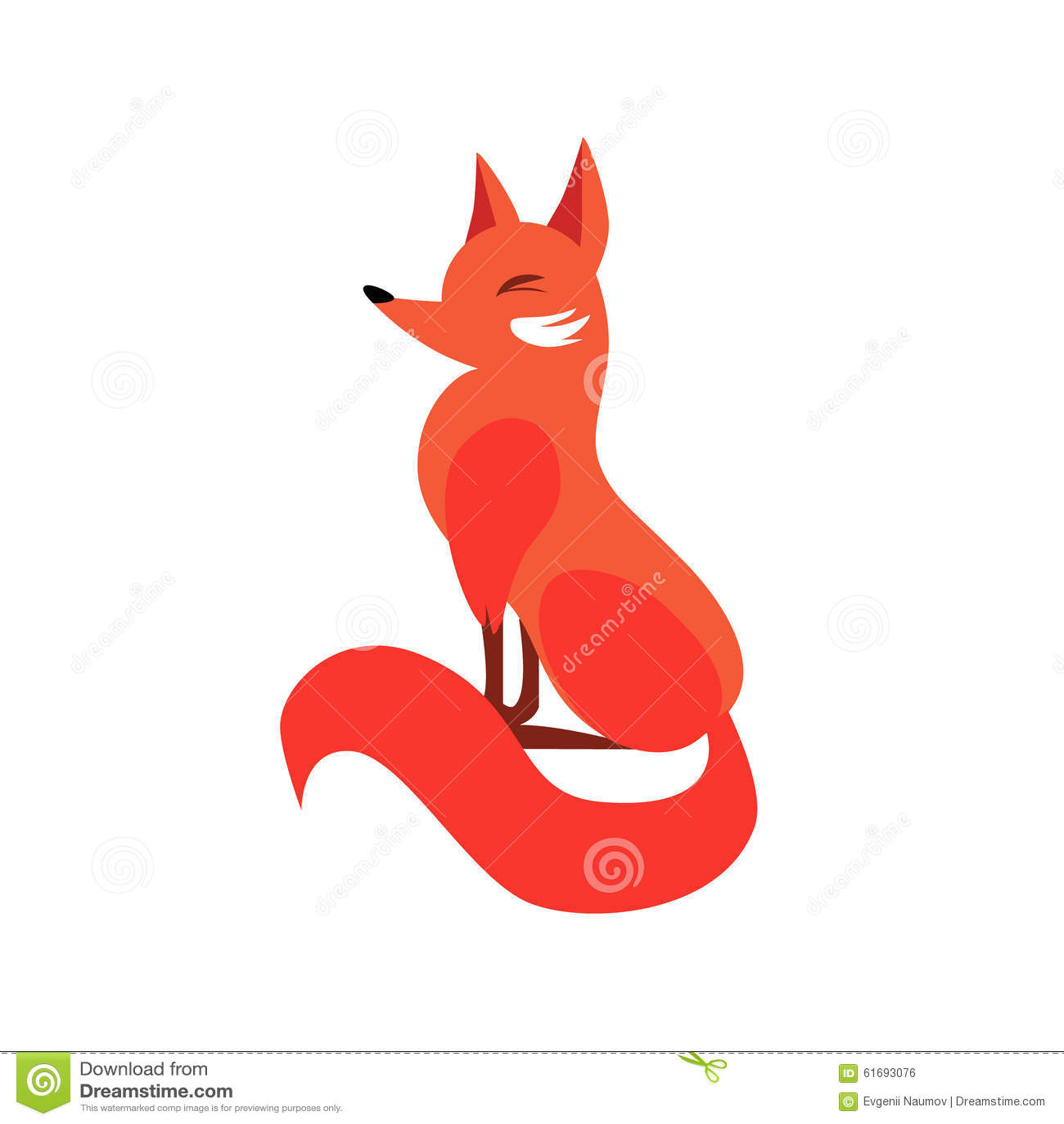 Sitting fox illustration - photo#5