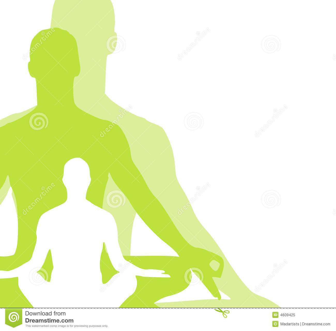 Sitting Position Yoga Figures 2 Royalty Free Stock Photo