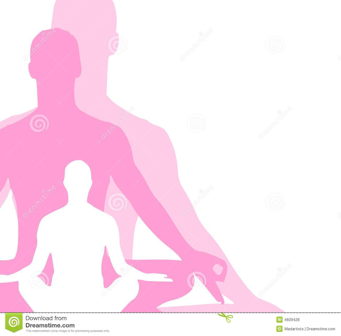 Sitting Position Yoga Figures 3 Royalty Free Stock Photos ...