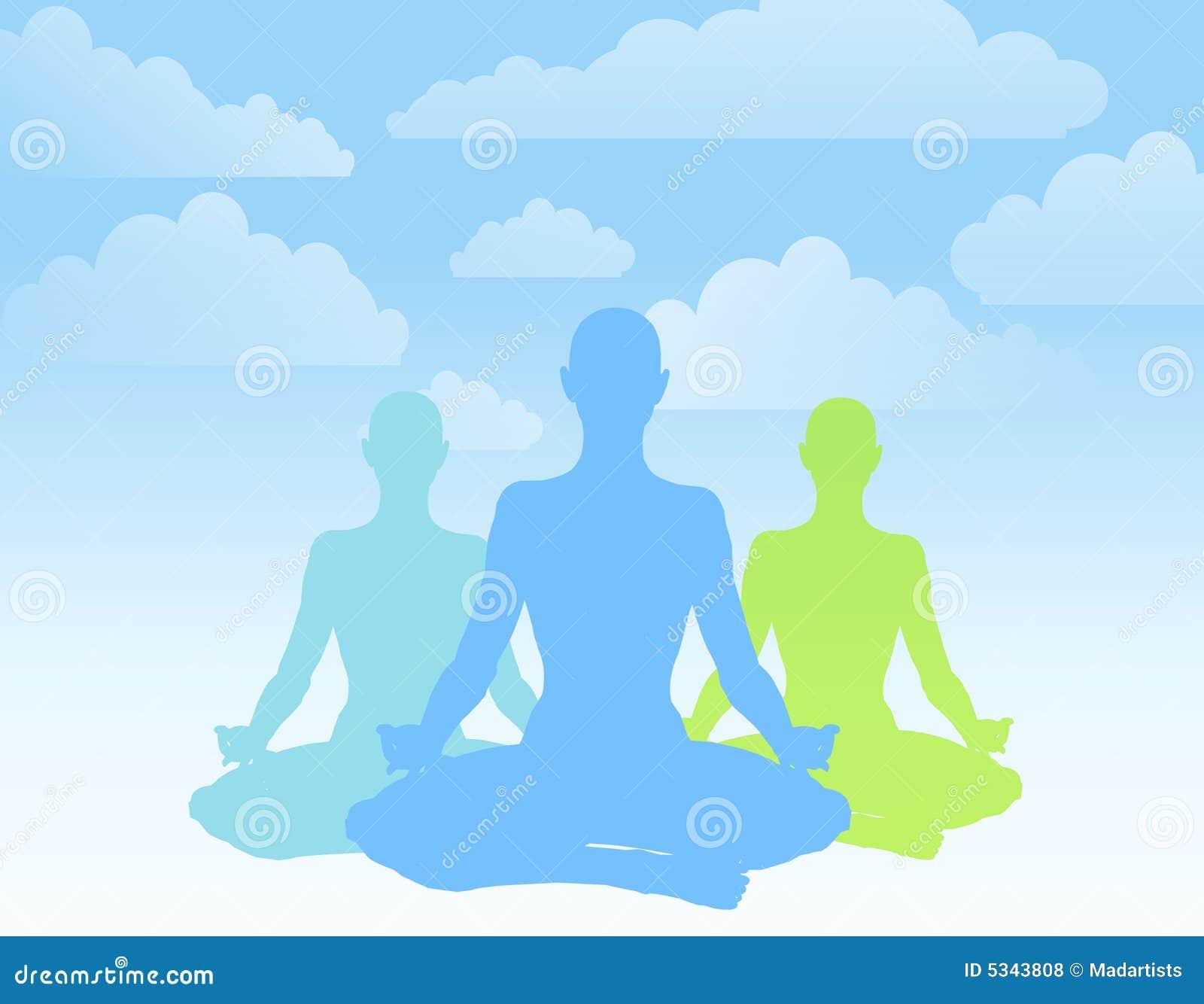 Sitting Position Yoga Silhouettes